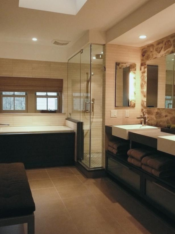 Neutral Contemporary Bathroom