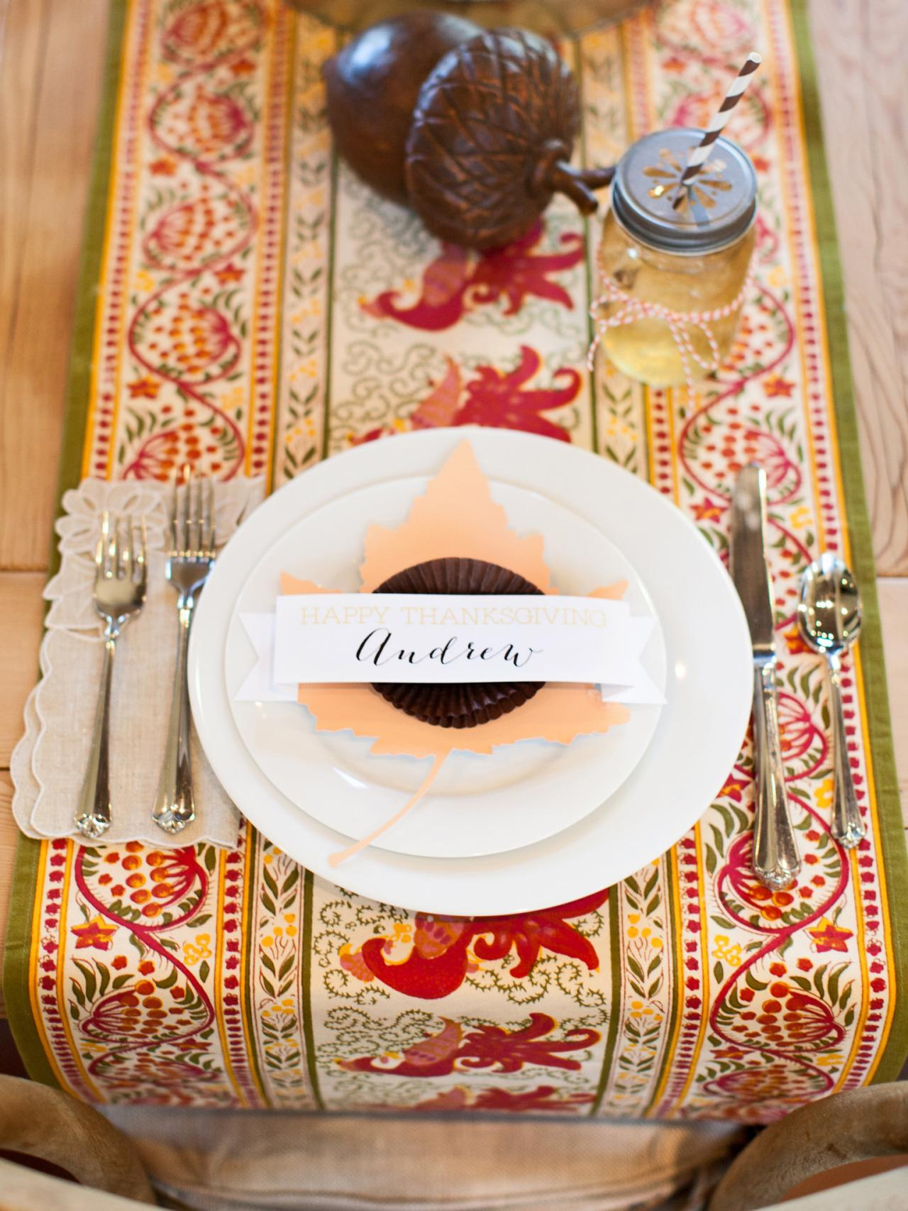 Thanksgiving Table Place Setting Ideas Part - 41: Quick And Easy Thanksgiving Place Card