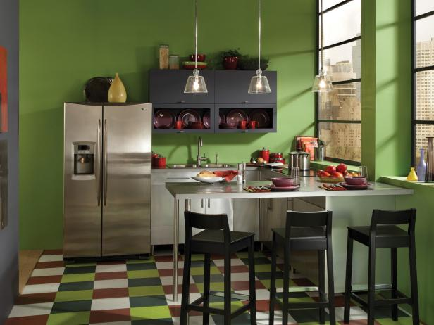 Kitchen color ideas pictures hgtv Kitchen colour design tips