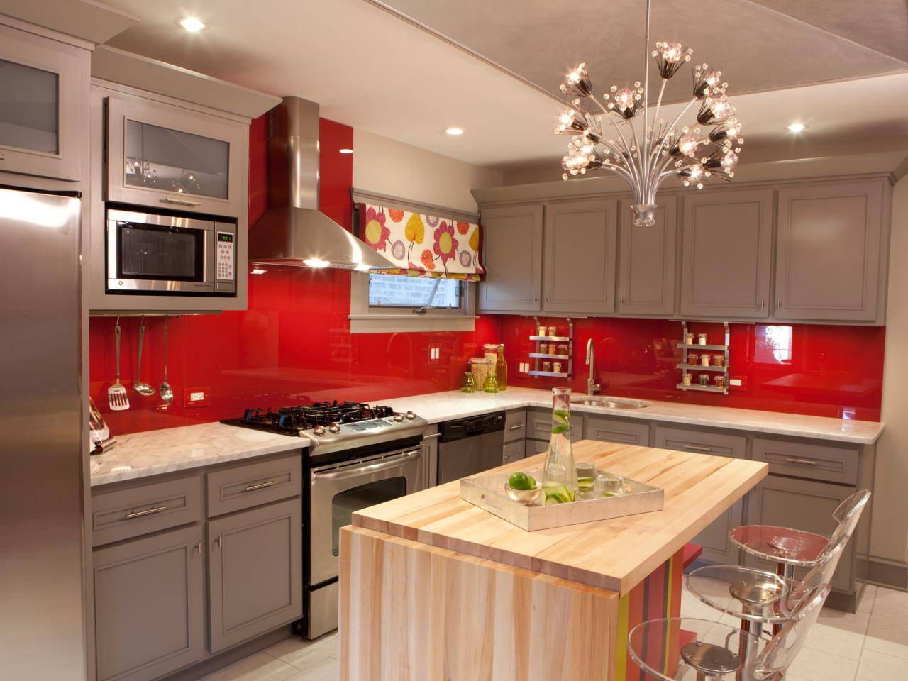 red kitchen paint: pictures, ideas & tips from hgtv | hgtv