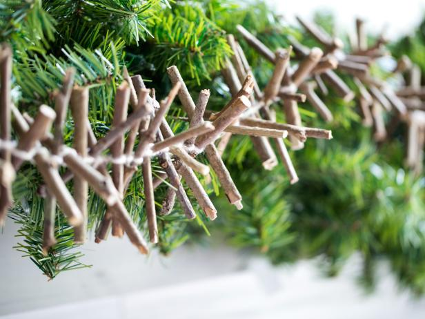 Holiday Decor With Rustic Twig Garland