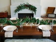 Rustic and Chic Christmas Brunch Table