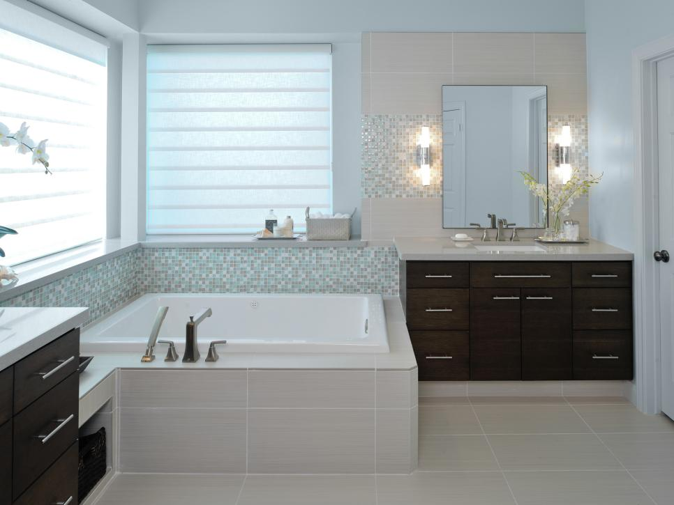 Spacious contemporary bathroom remodel carla aston hgtv Hgtv bathroom remodel pictures