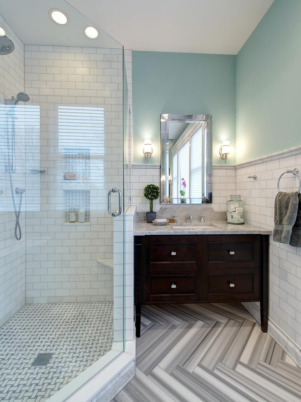 Bathroom gets elegant eclectic remodel joni spear hgtv for Hgtv bathrooms
