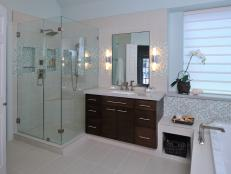 Light and Airy Contemporary Master Bathroom