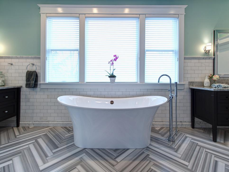 15 simply chic bathroom tile design ideas hgtv for Bathroom tiles design