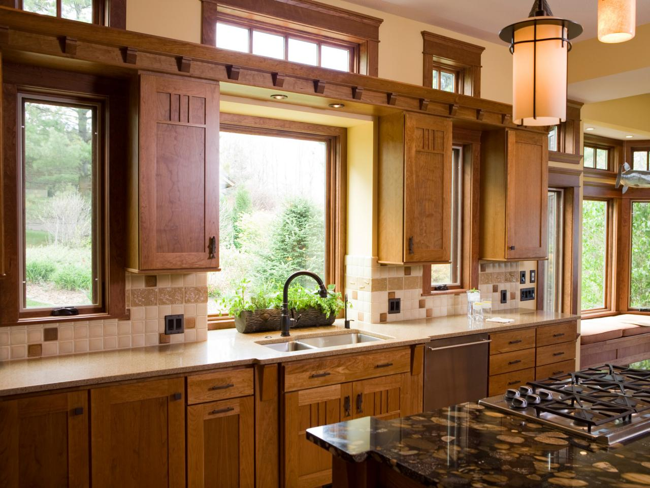 Creative kitchen window treatments hgtv pictures ideas for Kitchen styles pictures