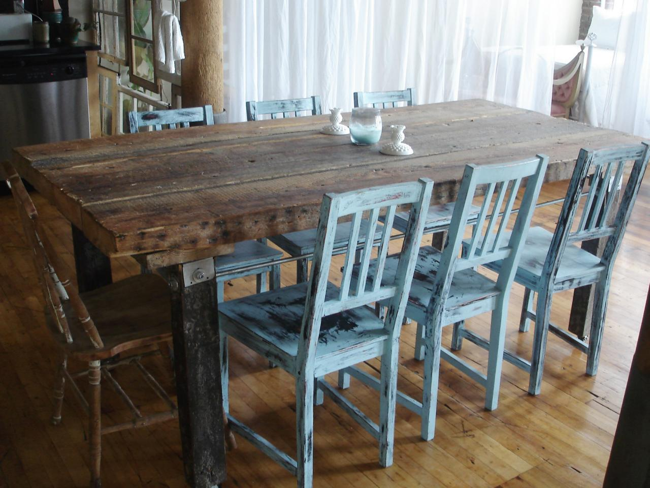 Distressed dining table - Elegant sideboard distressed furniture