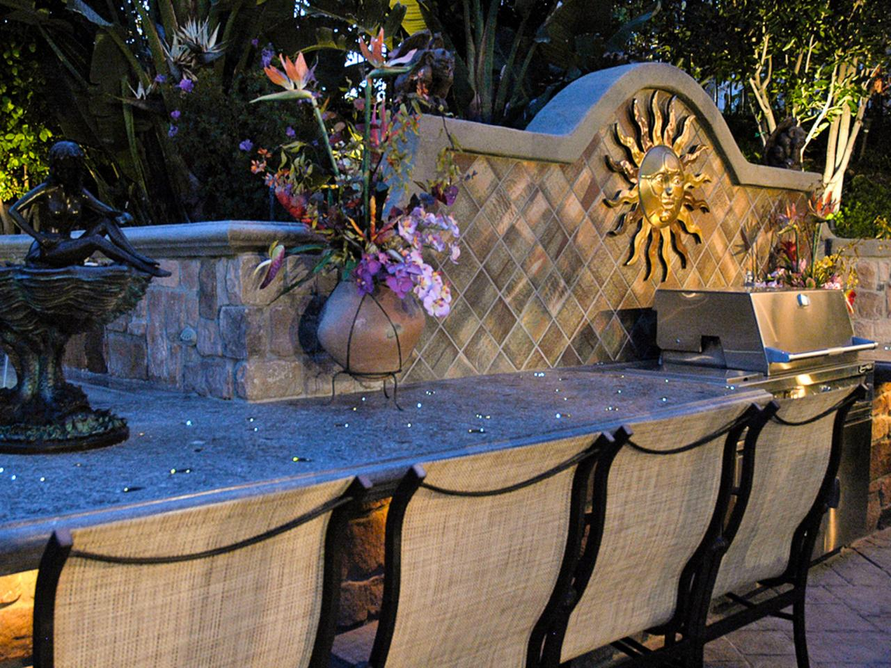 Outdoor Kitchen Lighting Outdoor Kitchen Bars Pictures Ideas Tips From Hgtv Hgtv
