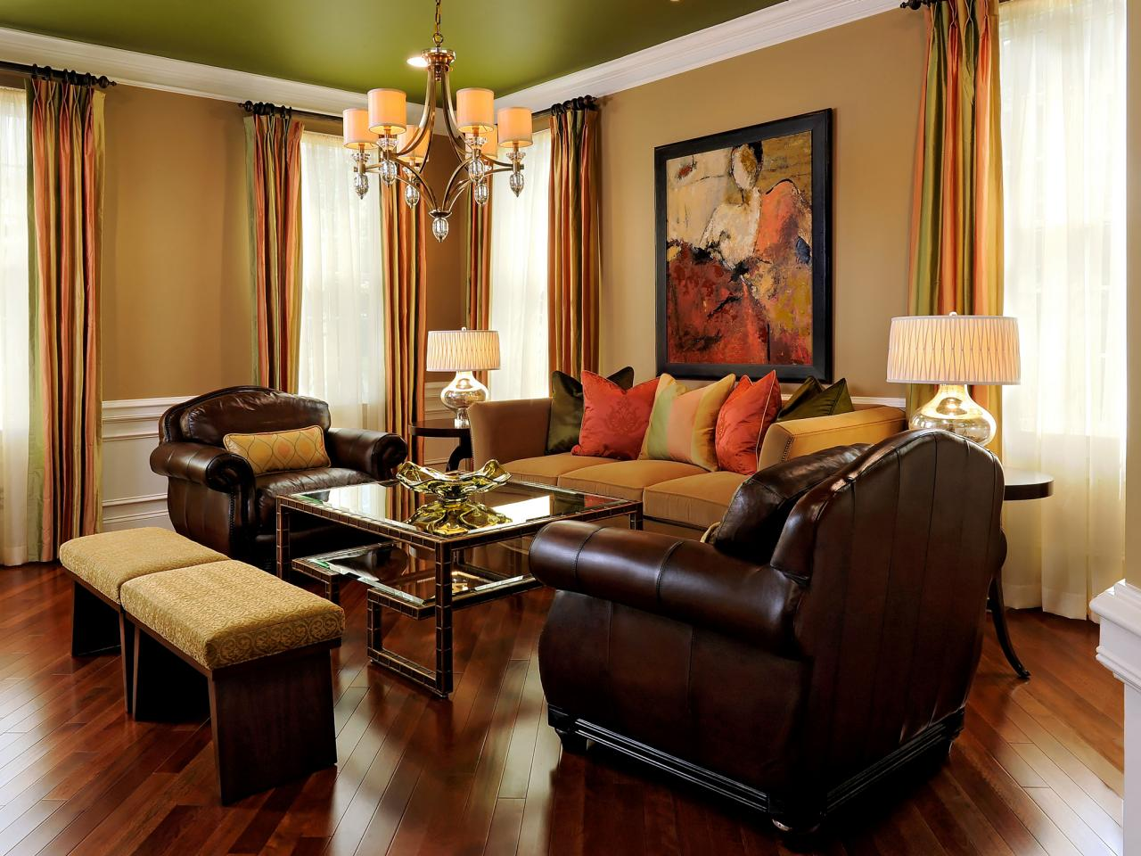 Outdated home brought back to life paula grace halewski for Living room ideas in brown