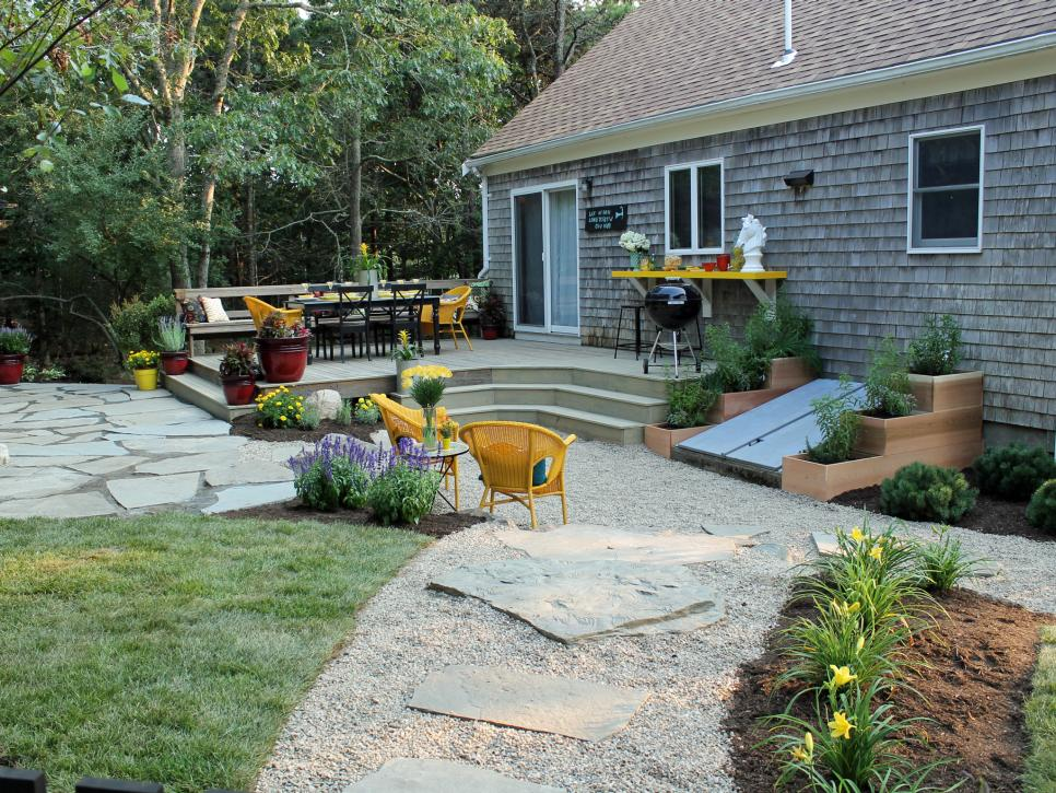 Landscaping Design Ideas For Backyard Custom 15 Beforeandafter Backyard Makeovers  Hgtv Design Decoration