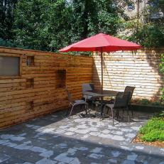 Custom-Built Garden Wall Creates Urban Outdoor Sanctuary