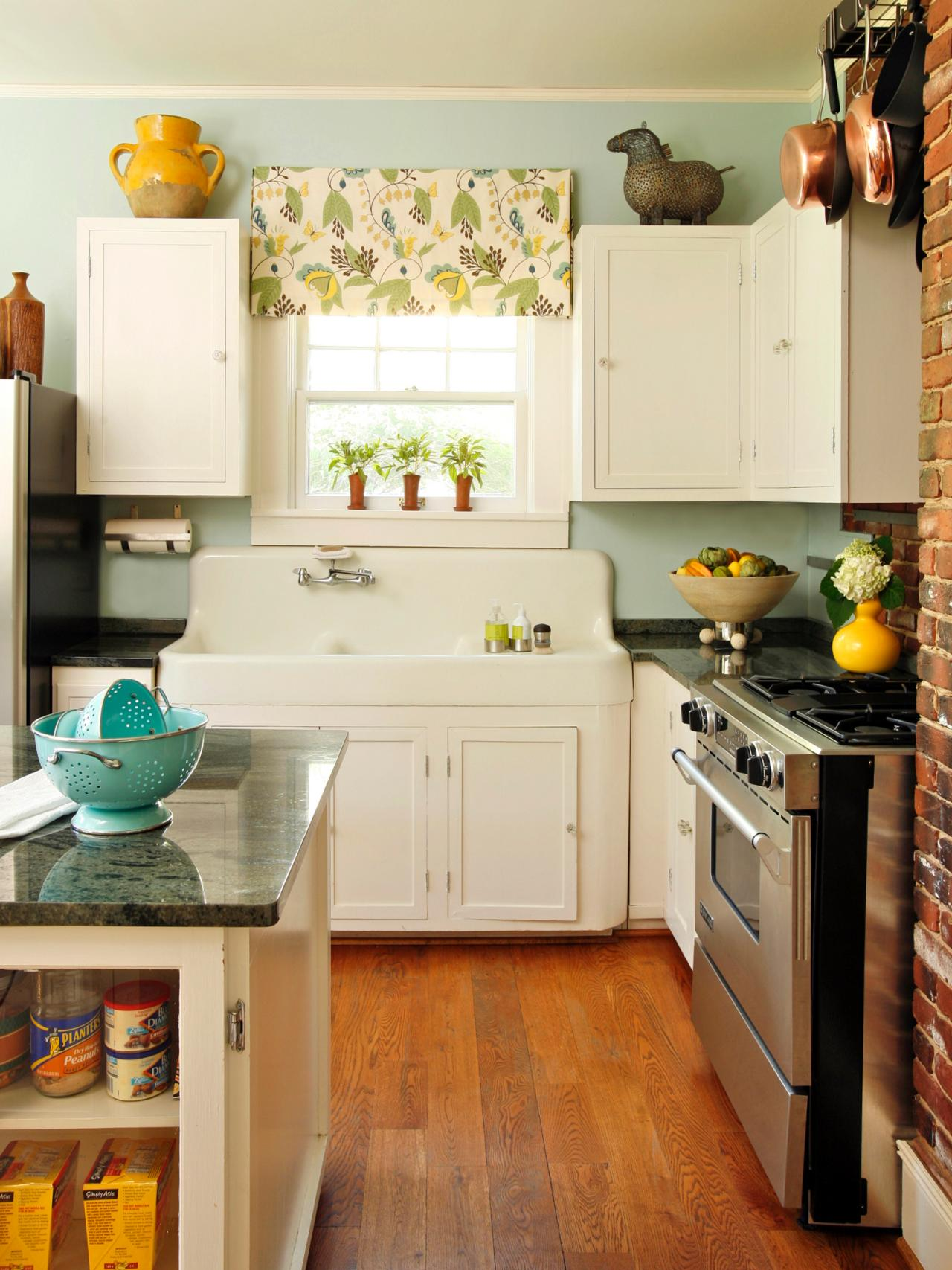 inexpensive kitchen backsplash ideas + pictures from hgtv | hgtv