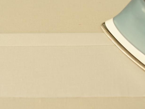 Ironing Fabric to Create a Seam