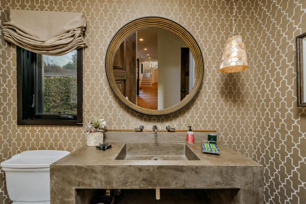 Modern Round Bathroom Mirror