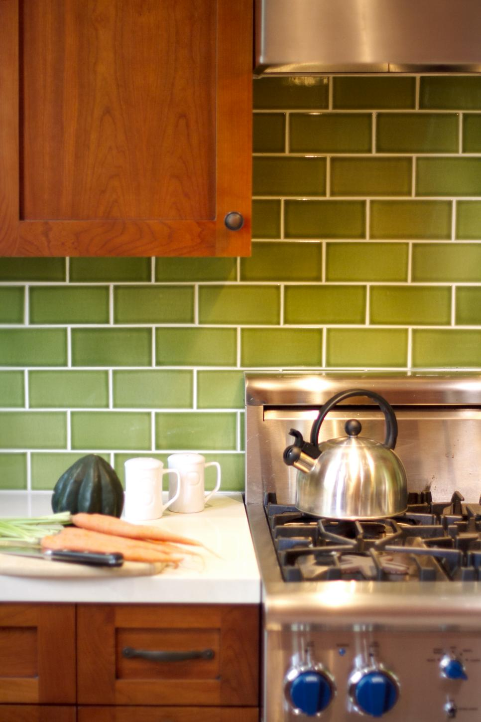 Kitchen Backsplash Green 11 creative subway tile backsplash ideas | hgtv