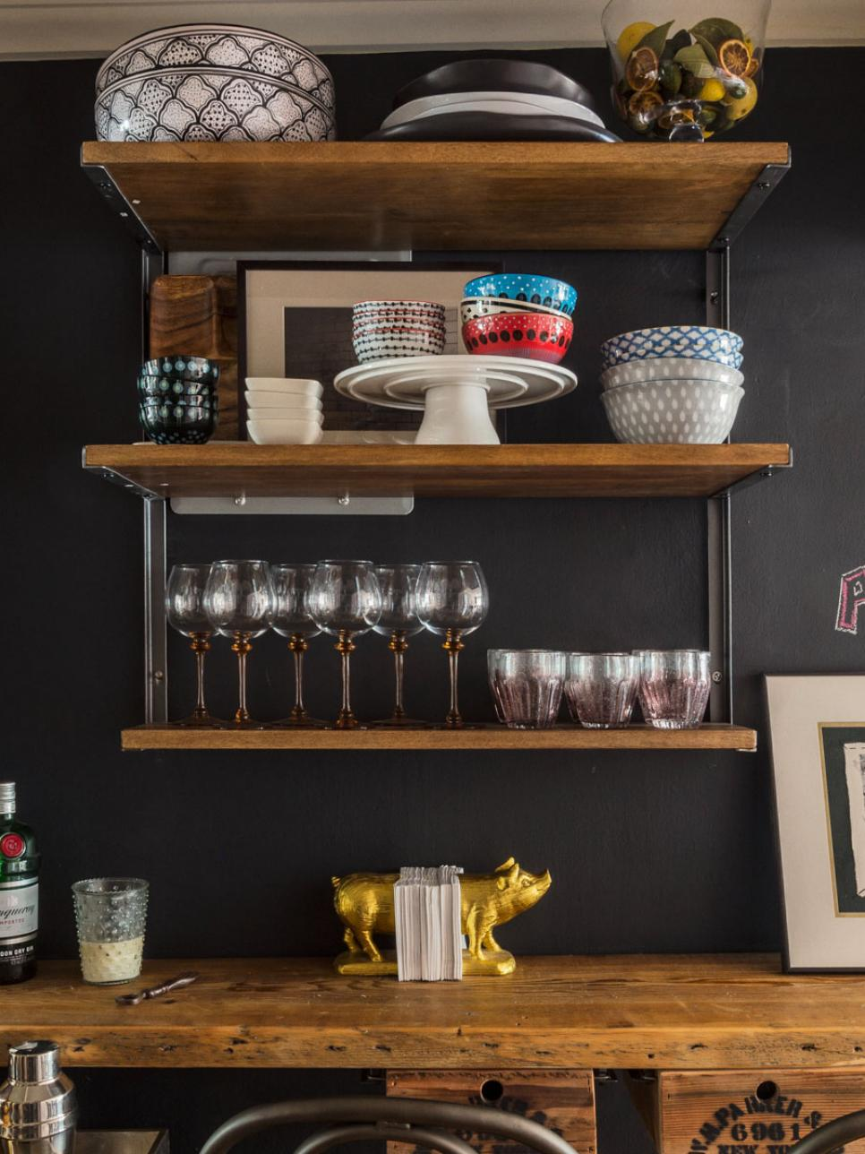 Restaurant Shelf Decor : Rustic industrial bar hgtv