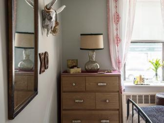 Funky Bedroom With Animal Skull Art