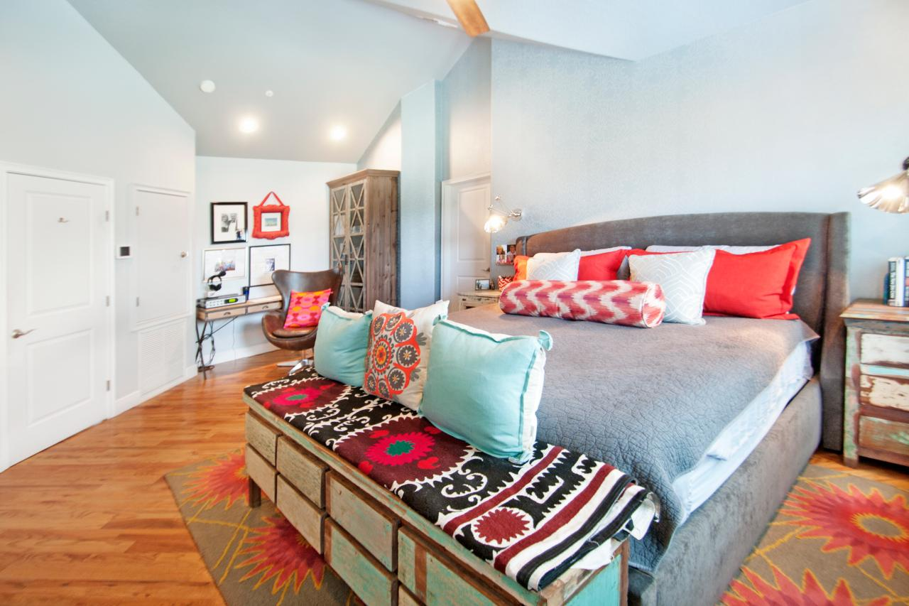 Bright Blue Master Bedroom photo page | hgtv