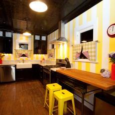 Striped Kitchen With Soda Fountain Vibe