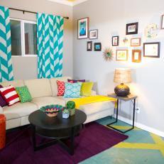 Bold, Bright Contemporary Living Room