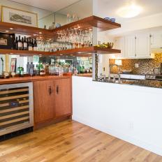 Contemporary Kitchen Bar Area