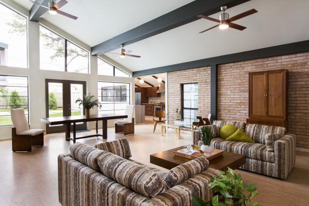 Before after midcentury modern living room makeover - Mid century modern design ideas ...