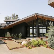 Landscape And Hardscape Outside Midcentury Modern Hollywood Home