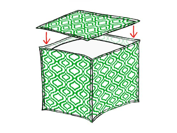 Napkin Pouf Illustration