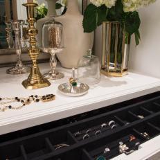 Jewelry Storage in Master Closet