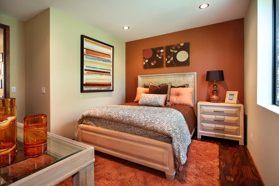 Search viewer hgtv - Burnt orange accent wall ...