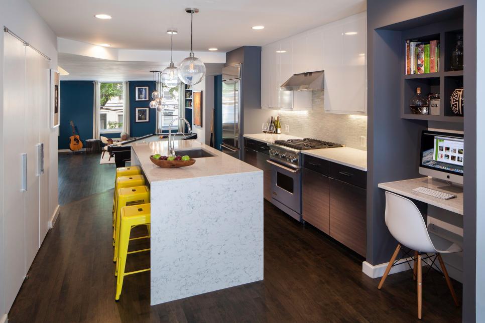 Sleek Cool Contemporary Kitchen 2014 HGTV