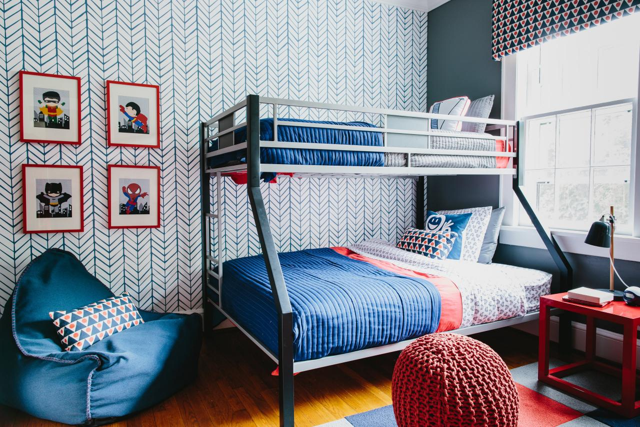 Colorful Pattern Filled Shared Boys 39 Bedroom 2014 Hgtv
