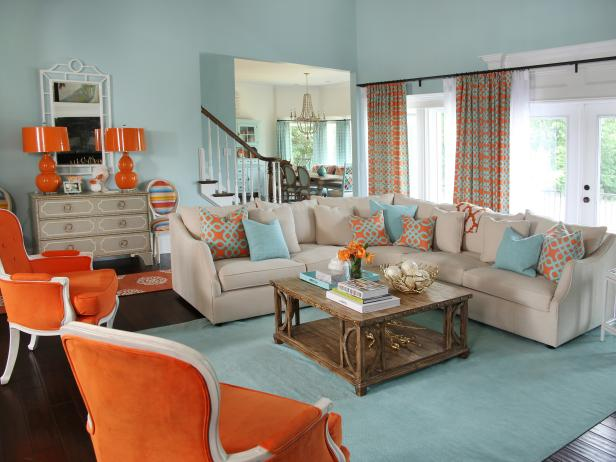 blue living room design ideas decor hgtv