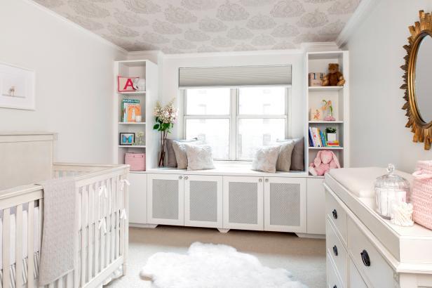 Transitional Neutral Nursery Is Light, Glamorous