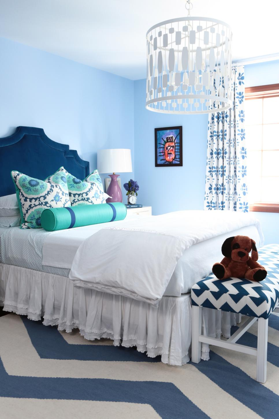 Interior Blue Bed Rooms blue bedroom design ideas decor hgtv cool colorful girls room 4 photos