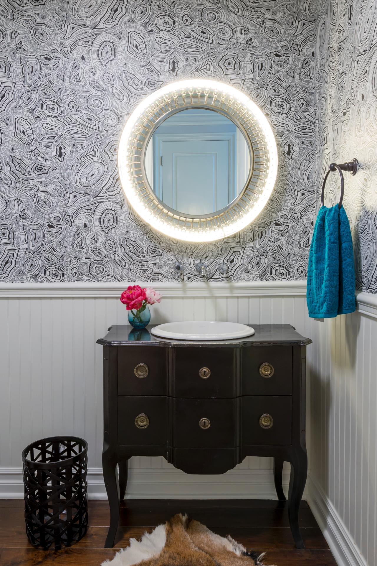 Best small space 2014 hgtv for Powder room vanities for small spaces