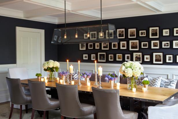 15 ways to dress up your dining room walls hgtv 39 s for What to put on dining room walls
