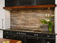 Contemporary Kitchen Cooking Area With Rustic Touches