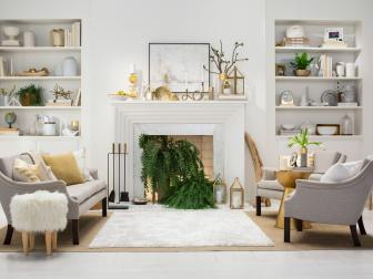 Design a Sophisticated Living Room Using Glamourous Gold