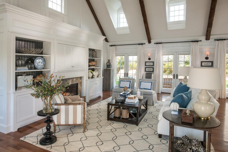 Hgtv dream home 2015 great room hgtv dream home 2015 hgtv - Airy brown and cream living room designs inspired from outdoor colors ...