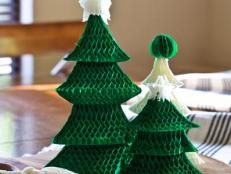 Honeycomb Christmas Tree Centerpiece