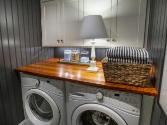 Gray Bead board Laundry Room