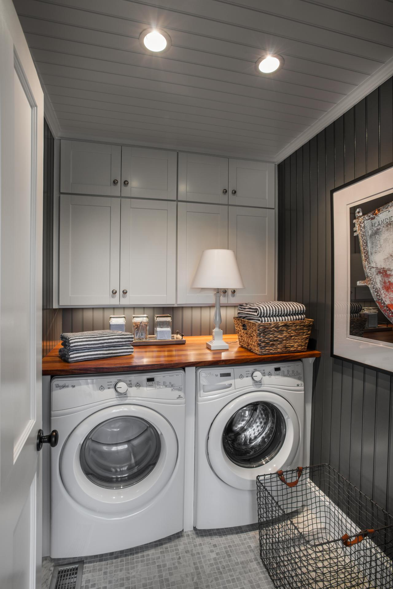 Photos hgtv - Laundry room designs small spaces set ...