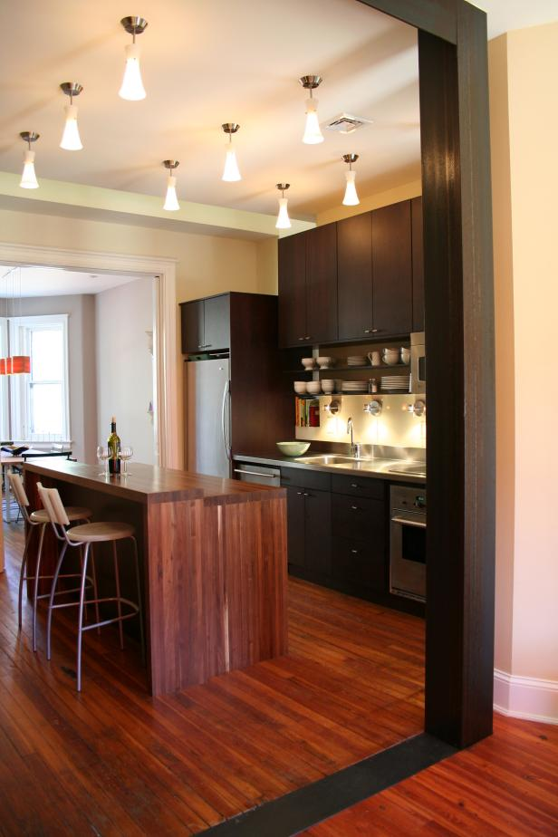 Contemporary Neutral Kitchen Boasts Warm Wood Tones