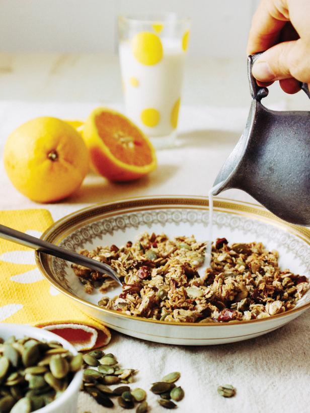 Orange and Pepita Granola