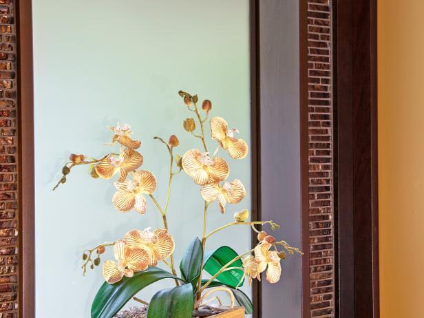 Powder Room Window Displays White Orchid