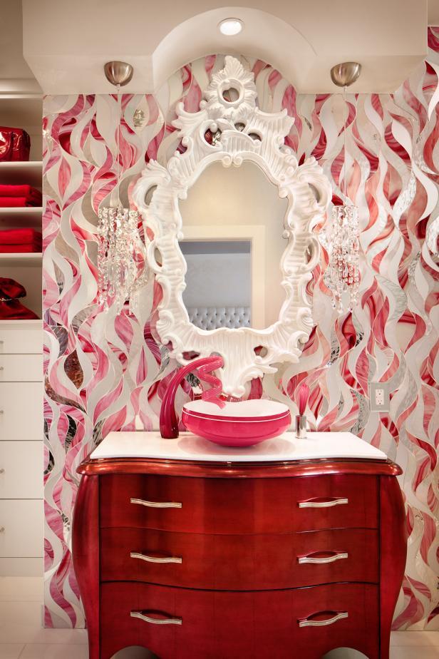 Photo page hgtv for Funky bathroom vanities