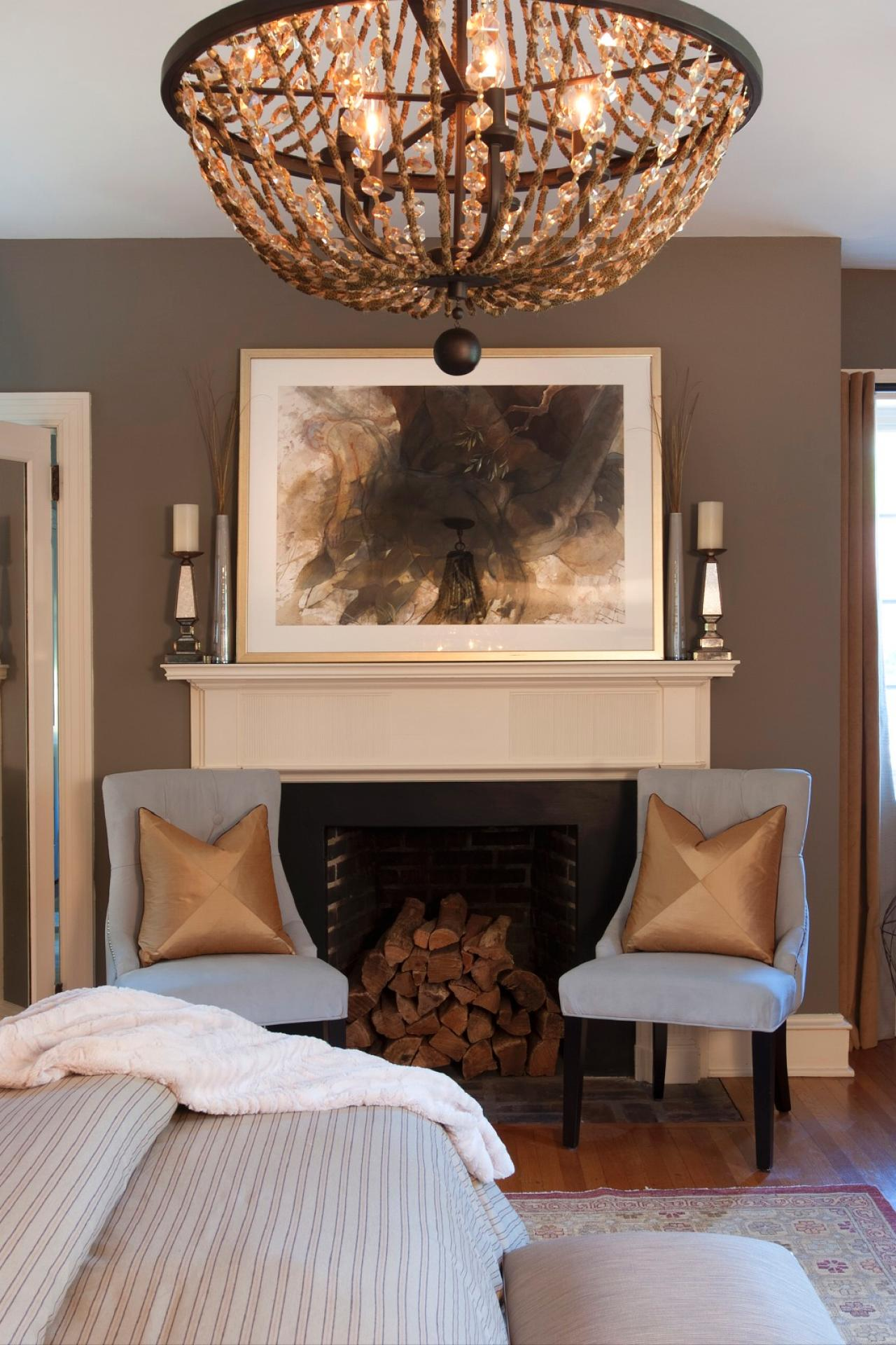 Most serene retreat 2014 hgtv Chandelier in master bedroom