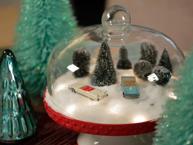 Cake Stand Turned Snow Globe